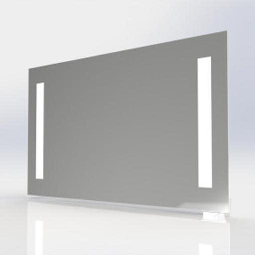 spejl med lys og stikkontakt Køb Prisma Spejl med LED lys & stikkontakt, 80x65 cm 3443456933 spejl med lys og stikkontakt
