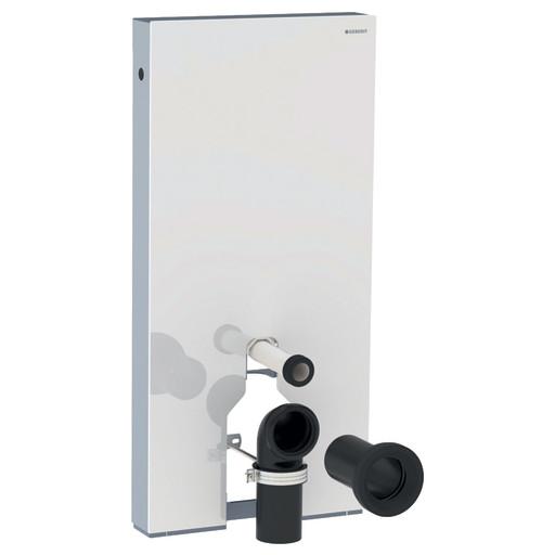 Geberit Monolith sisterne til gulvstående toalett - Hvit polert glass (eks. skål)