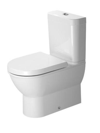 Duravit Darling New gulvstående toalett m/P-lås & Wondergliss - 370x630 mm