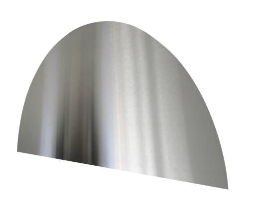 Köp Millarco stänkplatta, halvcirkel, 600 x 300 mm - Borstat rostfritt stål