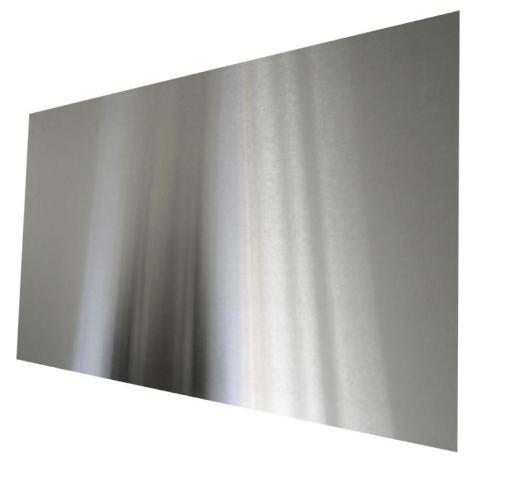 Köp Millarco stänkplatta, fyrkantig 600 x 300 mm - Borstat rostfritt stål