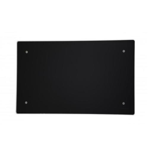 Adax Clea 600W Panelovn 42x61,5 cm m/termostat sort blankt glass - ca 9 m²