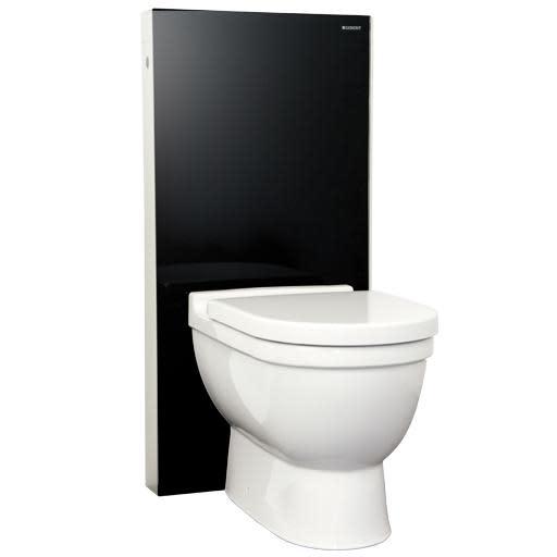 Geberit Monolith sisterne til gulvstående toalett - Sort polert glass (eks. skål)