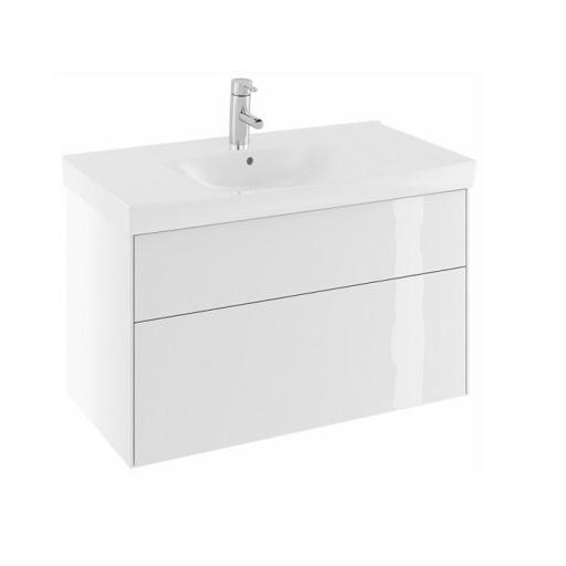 Köp Ifö Sense Underskåp 90 cm m/2 Lådor - Vit Högblank