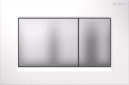 Geberit Betjeningsplade Sigma 30, Hvit/matkrom/matkrom
