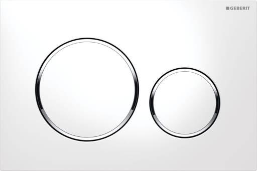 Betjeningsplate Sigma20 Hvit/krom/hvit