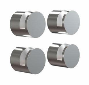 Köp Frost Nova spegelbeslag, 4 st - Borstat rostfritt stål