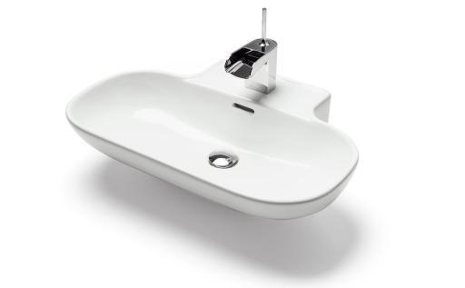 Köp Svedbergs Tvättställ Drop 62x44 cm m/Kranhål m/Bräddavlopp Vit