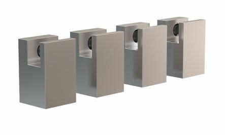 Köp Frost Quadra spegelhållare, 22 mm, 4 st - Borstat rostfritt stål