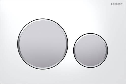 Betjeningsplate Sigma20 Hvit/mattkrom/mattkrom
