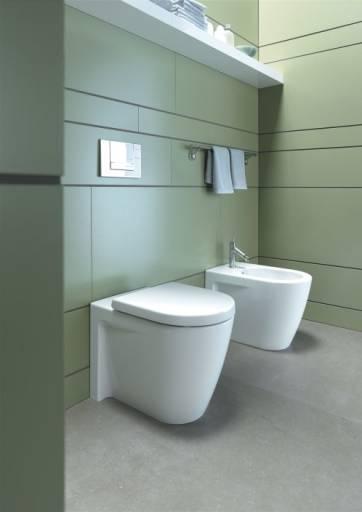 Køb Duravit Starck 2 back-to-wall toilet m/Wondergliss - 570x360 mm ...