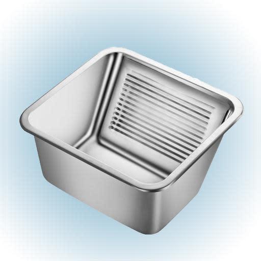 Köp Prisma Milwaukee Tvättkar till grovkök 50,5x45,5 cm m/Korgventil Rostfritt Stål