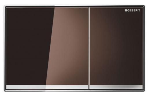 Köp Geberit Sigma 60 spolplatta - Umbrafärgat glas