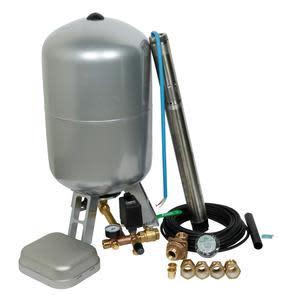 """Köp Komplett 3"""" pumppaket inkl. SQE2-70 pump och plåttank - Pumpdjup: 30 m"""