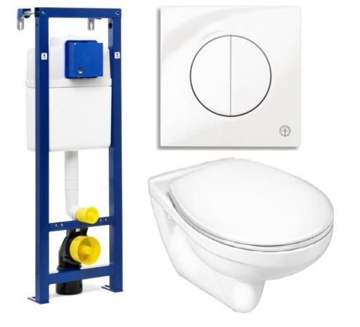 Köp Gustavsberg vägghängt toalettpaket inkl. Nordic3 toalett, Trimont XS cistern och vit spolknapp