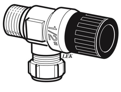 """Köp Nibe säkerhetsventil 1/2""""x15 mm, 9 bar"""