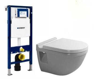 Köp Duravit Starck 3 toalettpaket med hög cistern och sits - Utan softclose