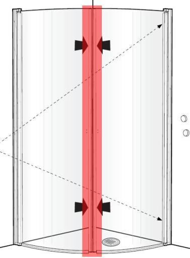 Köp Ido magnetlist till Showerama duschdörr/vägg