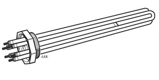 Köp Nibe elpatron IU39 i koppar, 6 kW, 230/400 V