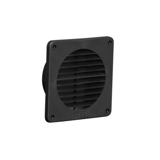 Köp Pax ytterväggsgaller för fläktar och ventil, Ø100 mm Svart