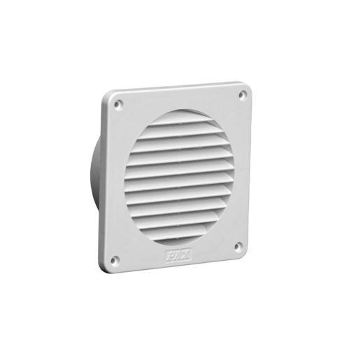 Köp Pax ytterväggsgaller för fläktar och ventil, Ø100 mm vitt