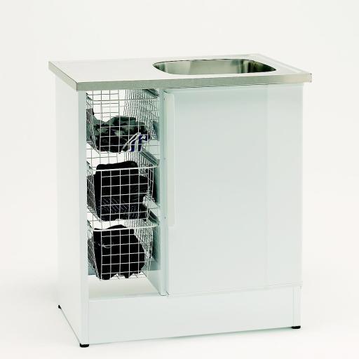 Köp Nimo Tvättbänk NB 800 TMS 80x60 cm Vit