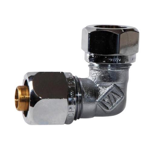 Köp Plast kopplingsset vinkel 2139, Förkromad 16x2,0-2,25xCU15