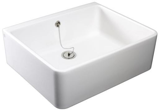 Köp Gustavsberg Rengörings/utslagsvask 60x50 cm m/Propp Vit porslin