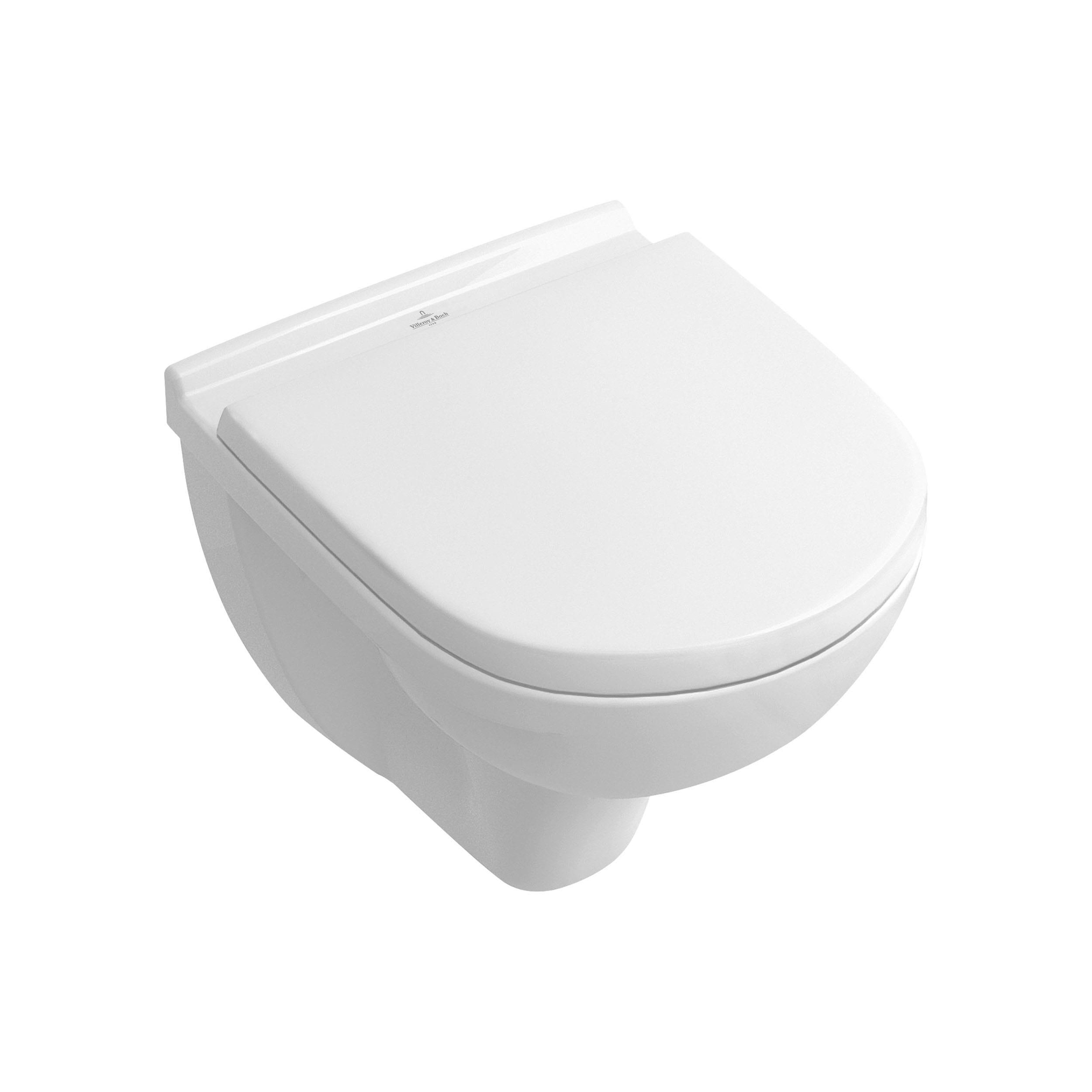 Køb Villeroy & Boch O.Novo væghængt toilet kort model med softclose sæde 613094200