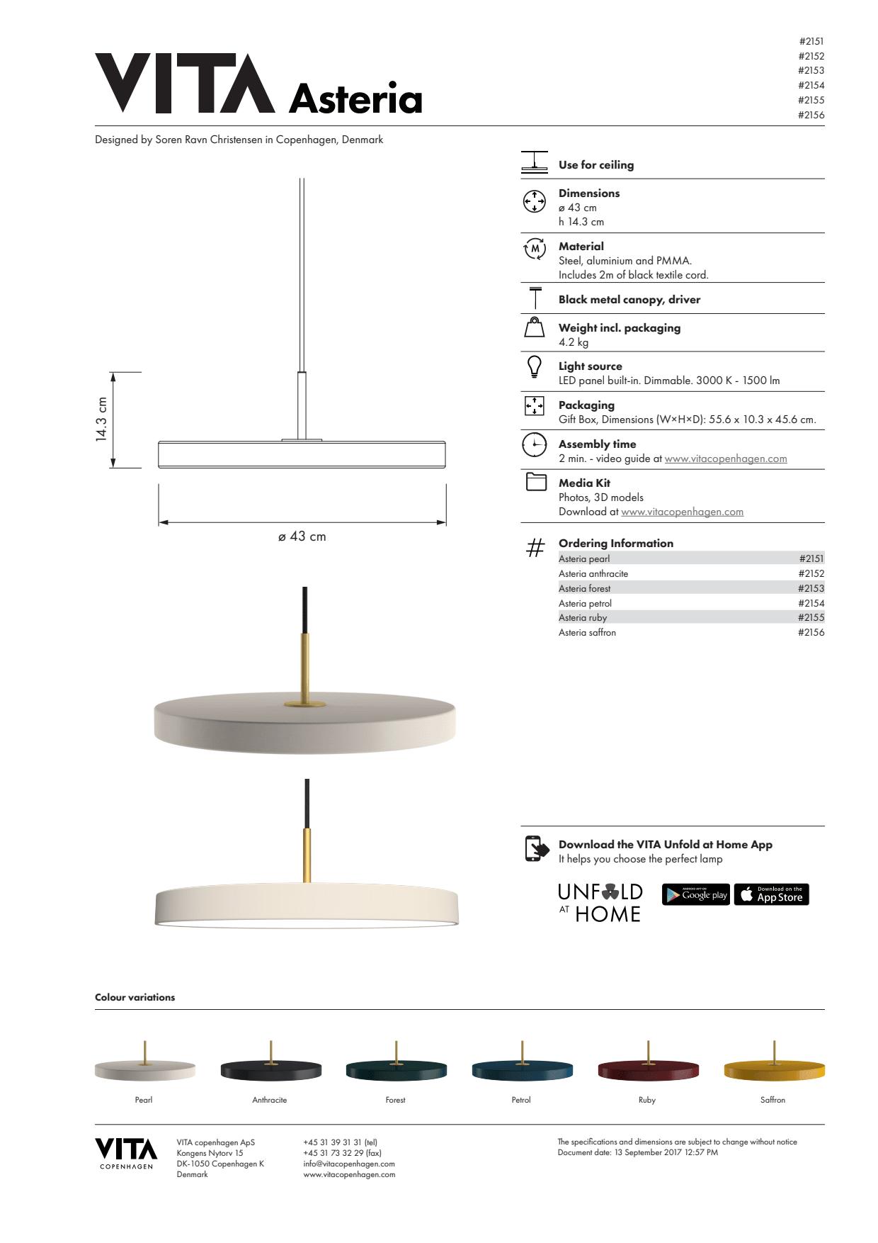 Mani plafond, 18W LED, Diameter 32 cm fra Nordlux
