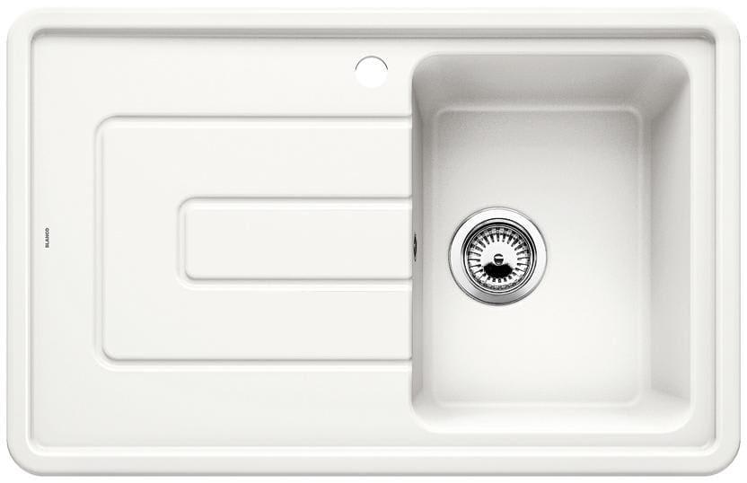 køkkenvask porcelæn Køb Blanco Tolon 45 S højre UX Køkkenvask 78x50 cm, Keramisk  køkkenvask porcelæn
