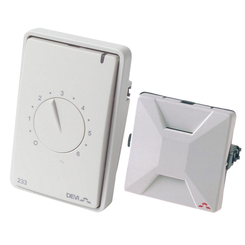 Storslået Køb DEVIreg 233 termostat med rumføler i hvid til el-gulvvarme HT29