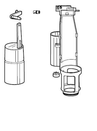 Avanceret Køb Ifö komplet svømmeventil til Aqua toilet 609526705 LW51