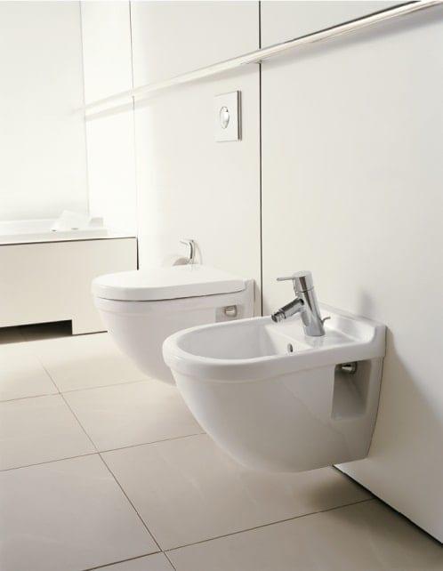 Køb Duravit Starck 3 væghængt toilet kort model med rengøringsvenlig overflade 613237010