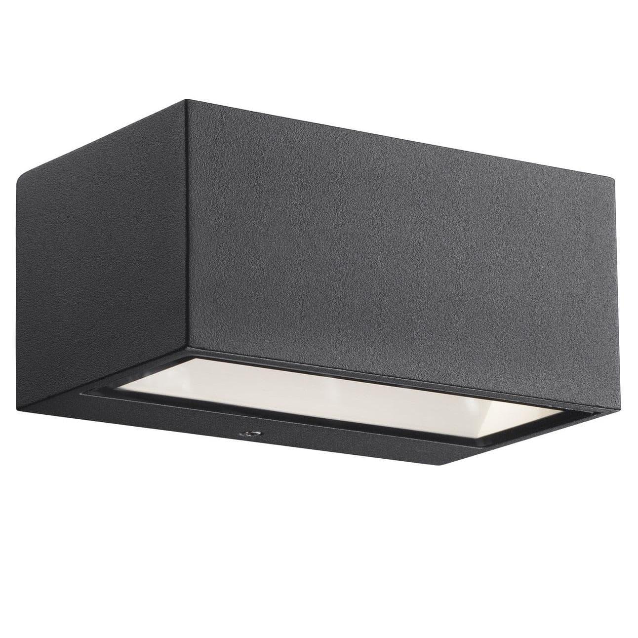 Avanceret Køb Nordlux Nene Udendørs væglampe Op/ned LED 6W, Sort 872723 VI17
