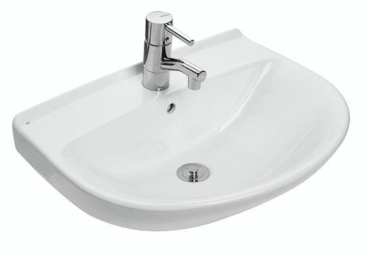 håndvask Køb Ifö Cera Håndvask 57x43.3 cm Hvid m/Hanehul og Overløb 623062100 håndvask