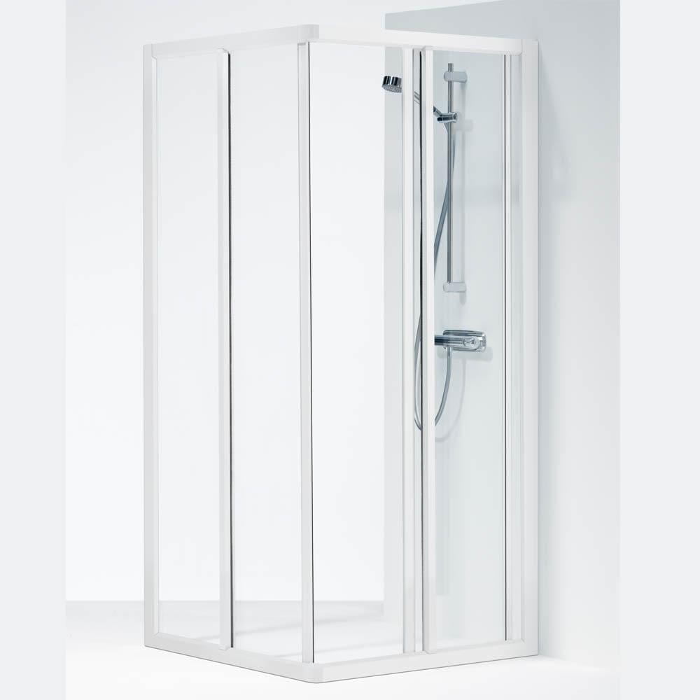 Toppen Köp Ifö Solid Duschvägg SVH 80X80x195cm Klart glas/Vit profil 7394111 ZG-42