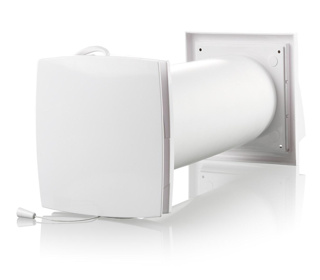 Modernistisk Køb Duka One Mini et-rums varmegenvinding Ø100 mm, Hvid 358871100 NI18