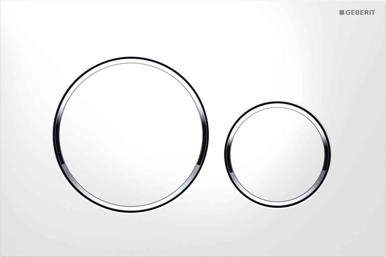Køb Geberit Betjeningsplade Sigma 20, Hvid/krom/hvid 617080150