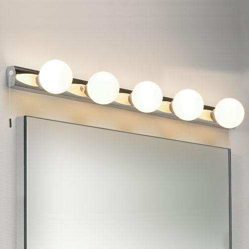 Usædvanlig Køb Astro Cabaret spejl/væglampe i krom - 5 lamper 0957 HU46