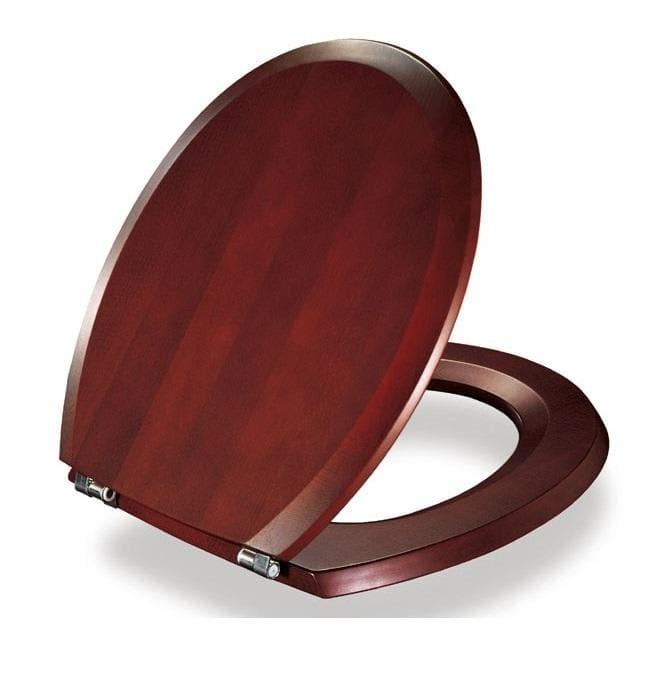 Køb Pressalit Selandia toiletsæde m/Faste beslag, Mahogni 615101455
