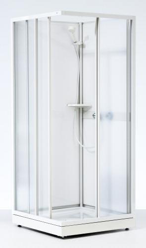 Enormt Køb Ifø Next NKH-L brusekabine 80 x 80 cm med hvidlakeret profil VF34