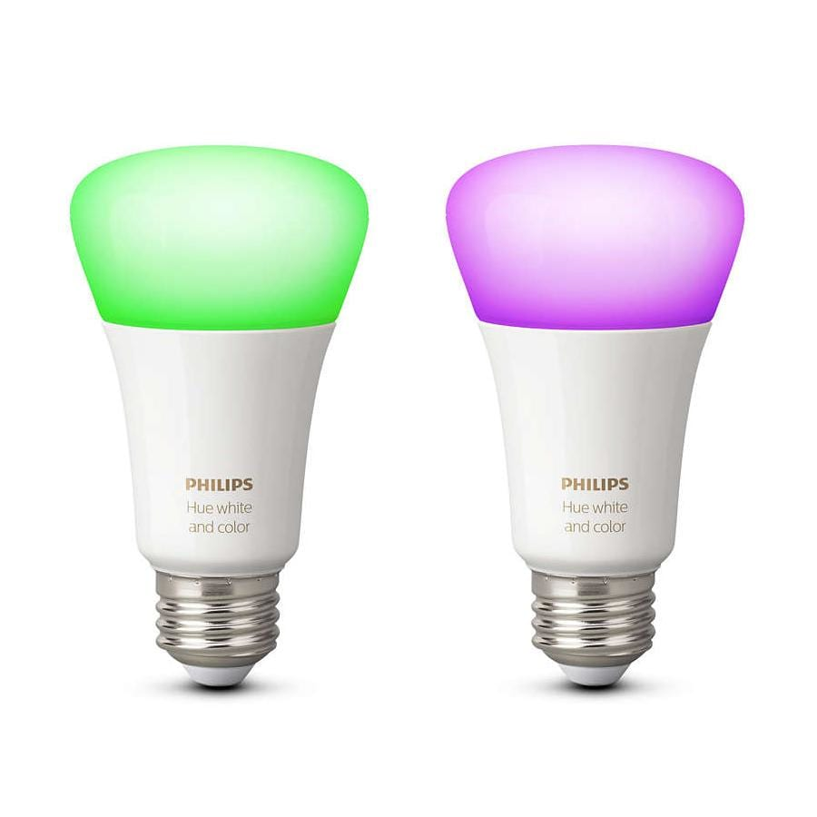 7989a49b741 Køb Philips Hue White & color ambiance 10W E27, 2-pak 929001257363