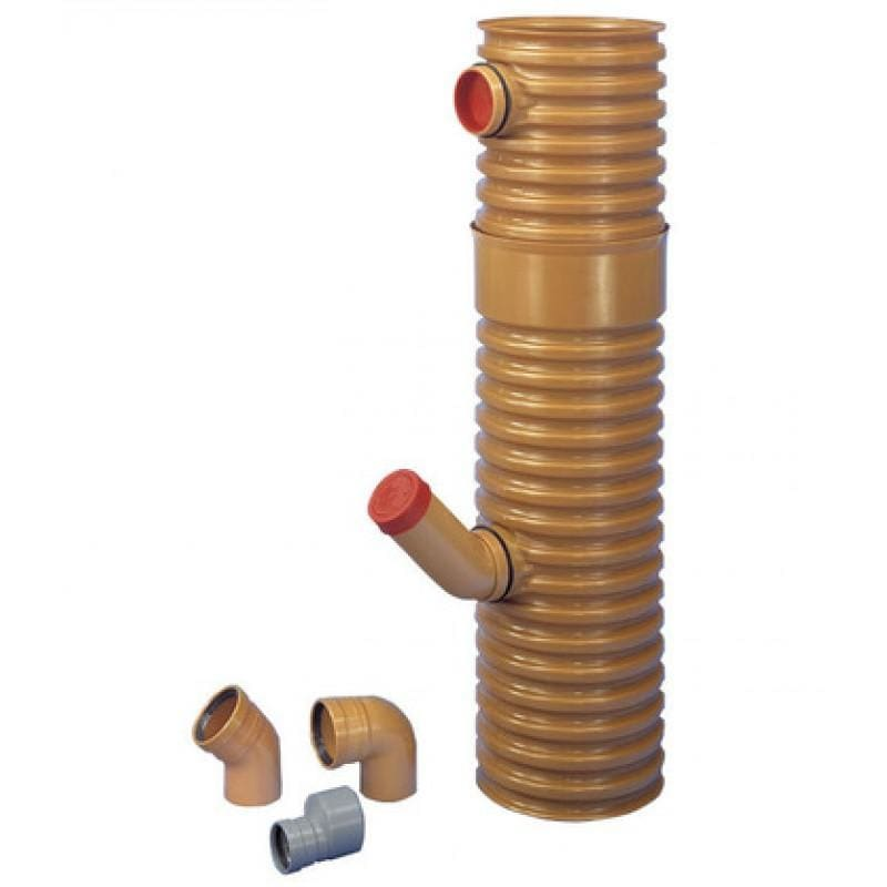 Køb Wavin PVC tagnedløbsbrønd med vandlås og drejelig top 315 mm 192926306