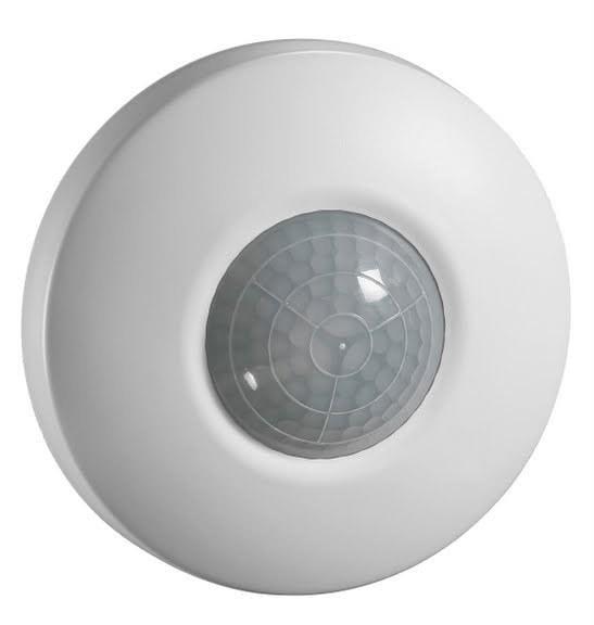 Ekstra Køb Servodan PIR-sensor Minilux 360° med relæ 24V Ø80 mm i hvid KJ21