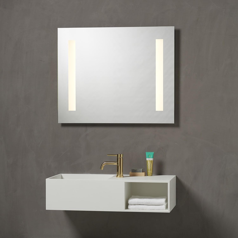Rørig Køb Loevschall Godhavn spejl med LED lys & stikkontakt, 80x65 cm KP-59