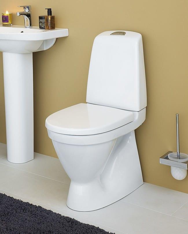 Kjøp Gustavsberg WC Nautic 1500 m/åpen spylekant, m/CeramicPlus - 650x345 mm - med Softclose ...