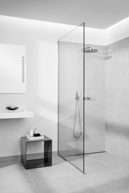 Køb Unidrain Glassline Brusevæg, 90 cm, Klart glas - Ekskl ...