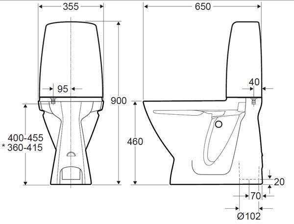 Sidste nye Køb Ifø Sign toilet høj model med S-lås og rengøringsvenlig MG-31