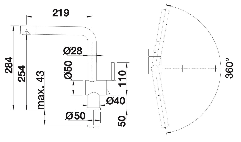 k b blanco linus f k kkenarmatur med svingtud i krom bc 514025. Black Bedroom Furniture Sets. Home Design Ideas
